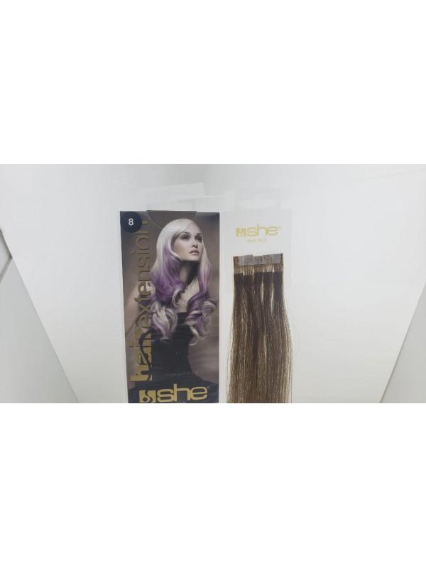 Cabelo Natural She N8 Para Mega Hair fios de 55/60 cm