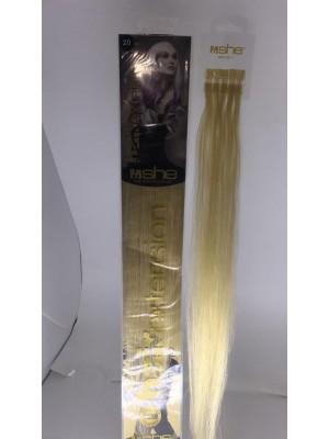 Cabelo Natural She N20 Para Mega Hair fios de 55/60 cm