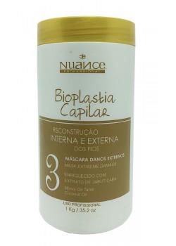 Nuance Bioplastia Capilar Mascara Reconstrutora Danos Extremos 1kg